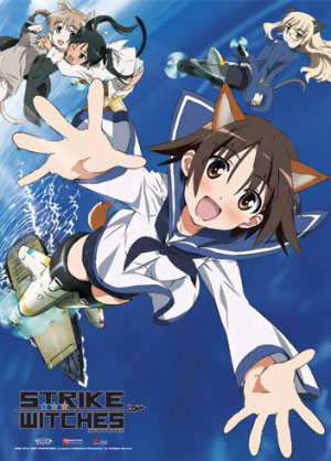 Strike Witches Wall: Scroll Flying Over The Water